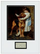 Briton Riviere Autograph Signed Display